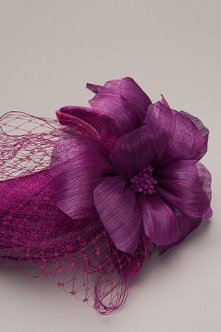 Phase Eight Purple Lottie Flower Headband