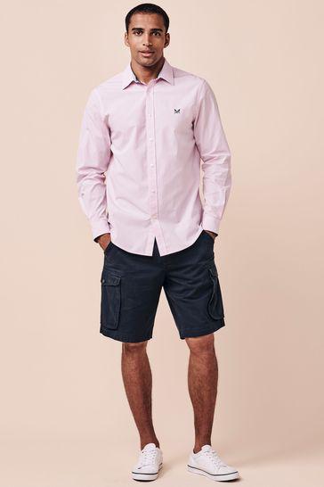 Crew Clothing Company Pink Micro Gingham Shirt