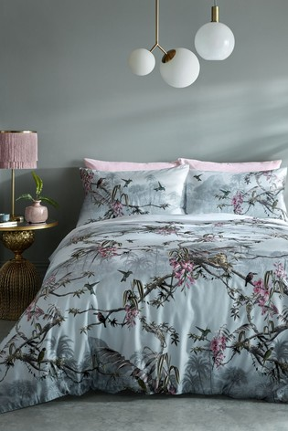 Ted Baker Grey Hibiscus Duvet Cover