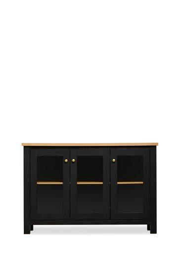 Malvern Black Glazed 3 door sideboard