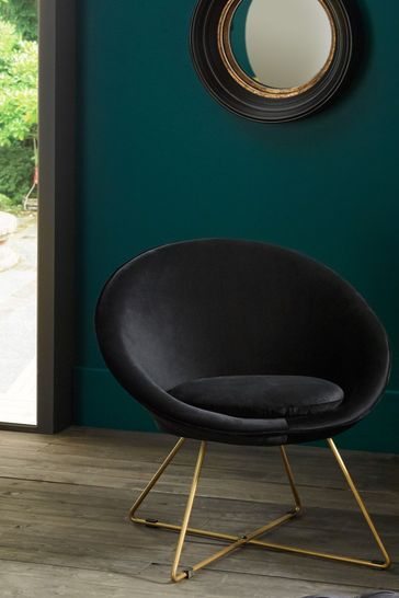 Pacific Retro Chair With Gold Metal Legs