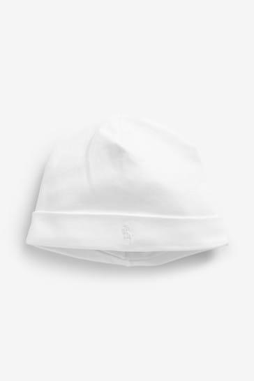 Ralph Lauren White Baby Hat