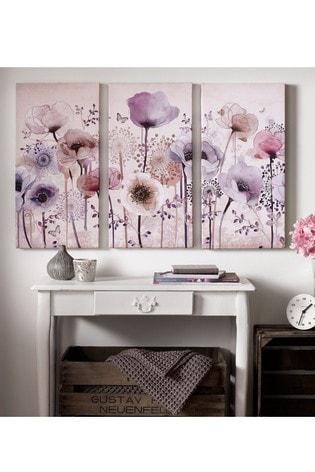 Classic Poppy Trio Wall Art by