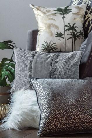 Gallery Direct Rectangular Arial Silver Cushion
