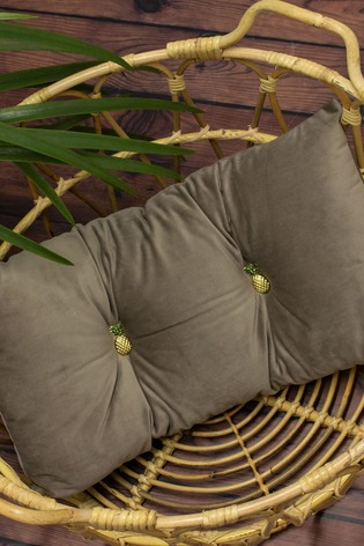 Riva Home Grey Pineapple Cushion