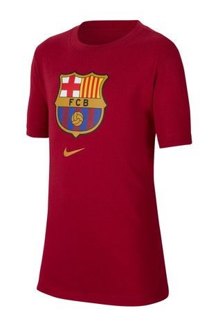 Nike Red FC Barcelona Crest T-Shirt