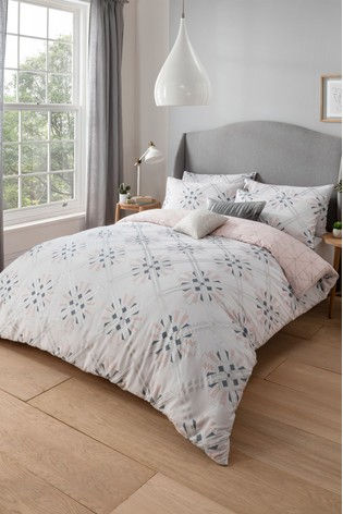 Sam Faiers Rae Deco Cotton Duvet Cover and Pillowcase Set