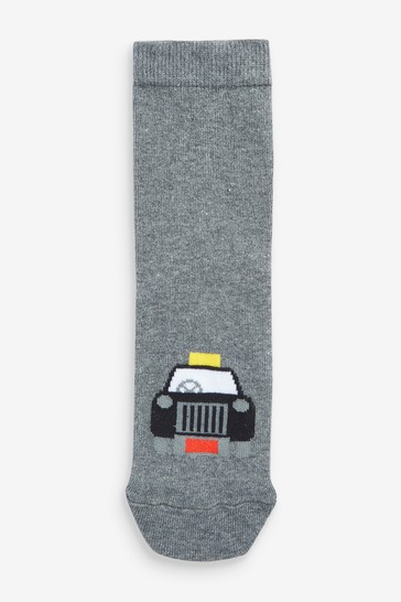 Grey 7 Pack Cotton Rich Transport Socks (Older)
