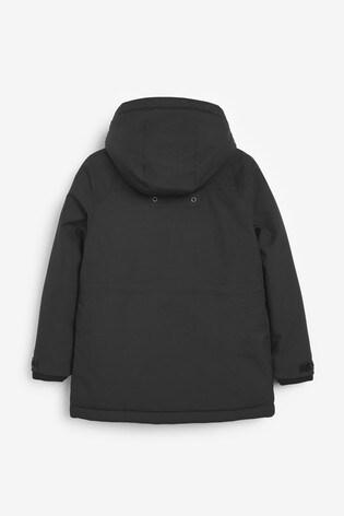 BOSS Black Hooded Parka