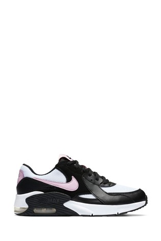 Nike Black/Pink Air Max Excee Youth Trainers