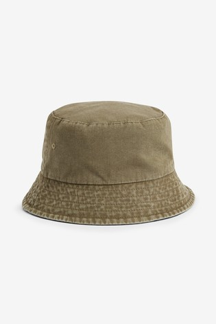 Khaki/Stone Reversible Bucket Hats Two Pack