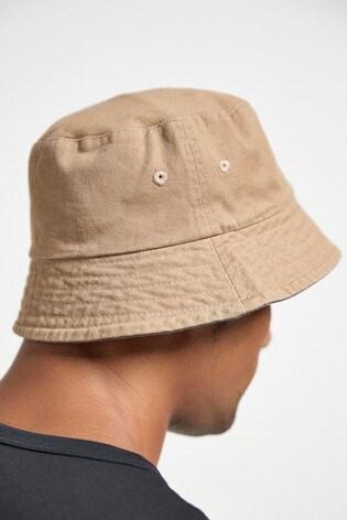 Khaki Green/Stone Reversible Bucket Hats 2 Pack