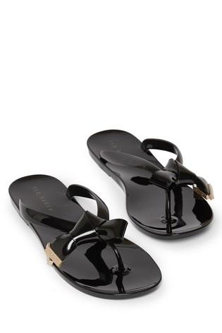 Buy Ted Baker Black Bow Flip Flops from
