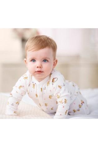Ralph Lauren Cream Bears Babygrow
