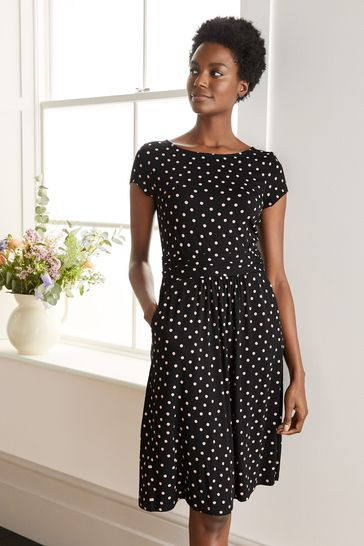 Boden Black Amelie Jersey Dress