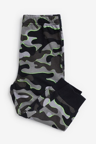 Khaki 3 Pack Camo Star Pyjamas (9mths-12yrs)