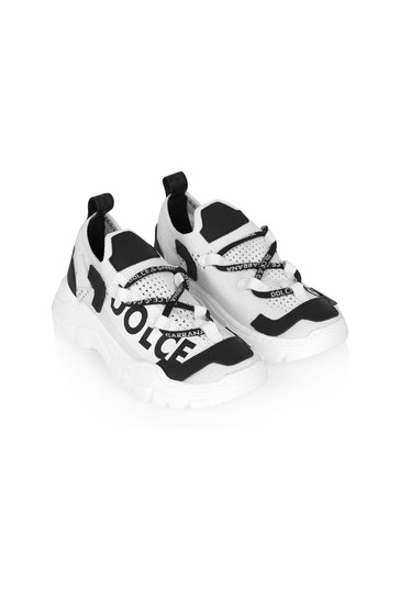 Dolce & Gabbana Boys White Leather Trainers