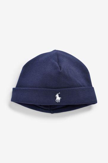 Ralph Lauren Navy Baby Hat