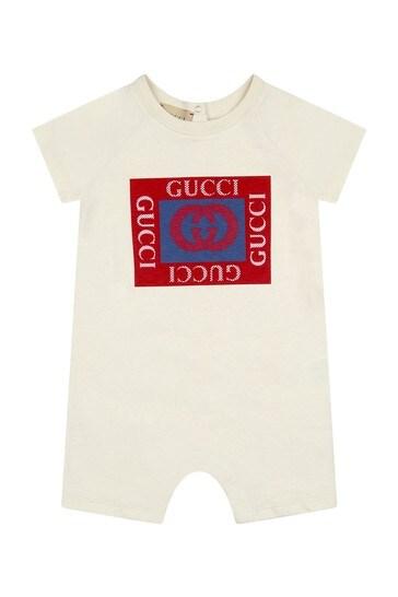 Baby Boys Cream Cotton Shortie