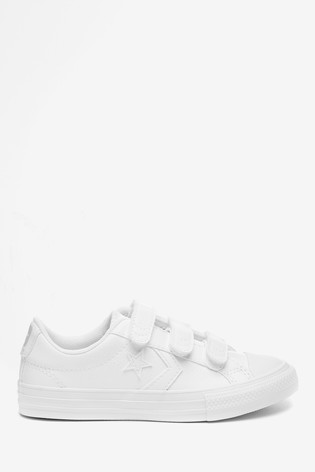 Converse Leather Star Player 3V Junior Trainers