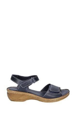 Fleet & Foster Blue Linden Touch Fastening Sandals