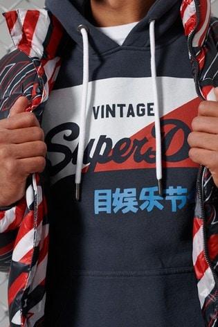 Superdry Sport Vintage Logo Primary Brushed Hoodie