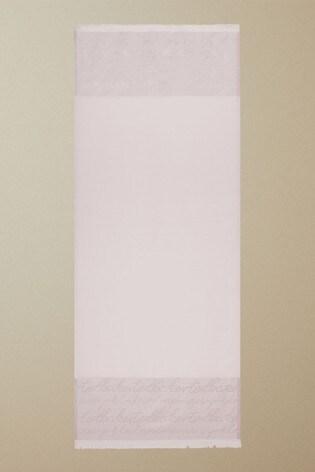 Ted Baker Pink Teddiee Sparkle Monogram Long Scarf