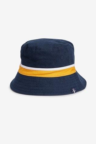 Navy Colourblock Bucket Hat