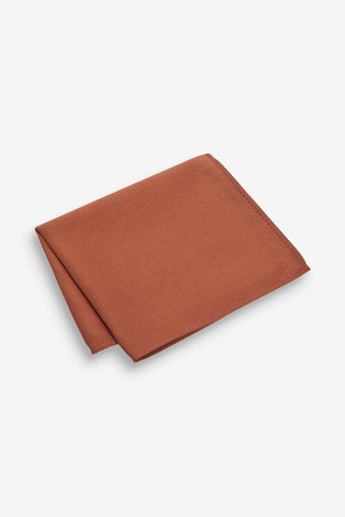 Rust Twill Pocket Square