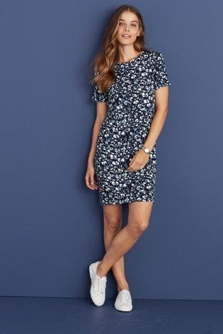 Blue Maternity/Nursing Layer Detail Dress