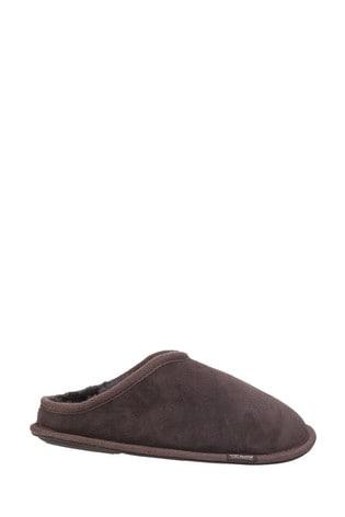 Cotswold Brown Hidcote Sheepskin Mule Slippers