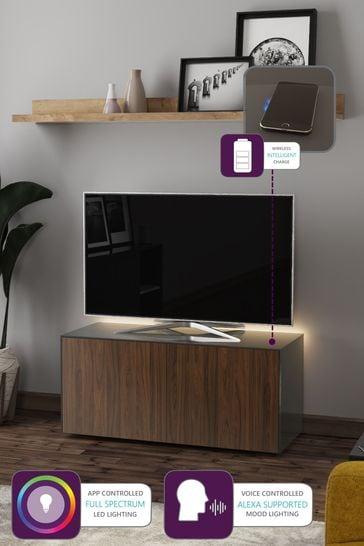 Frank Olsen SMART LED Medium Grey  Walnut TV cabinet