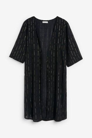 Black And Gold Sparkle Kimono