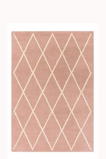 Asiatic Rugs Pink Albany Diamond Wool Rug