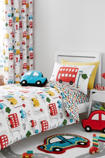 Transport Easy Care Junior Duvet Cover and Pillowcase Set by Catherine Lansfield
