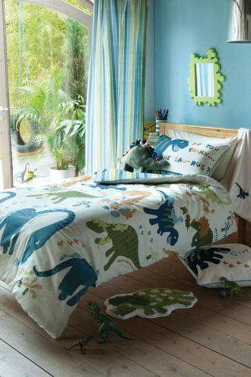 Dino Easy Care Duvet Cover and Pillowcase Set by Catherine Lansfield