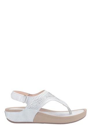 Fleet & Foster White Yolanda Touch Fastening Sandals