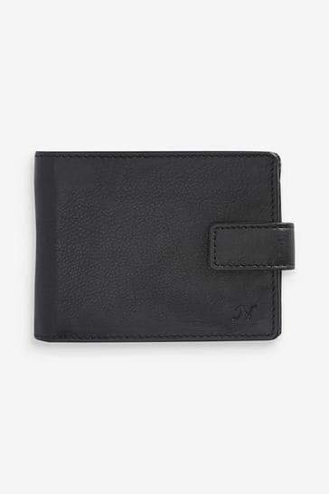 Black Monogram Signature Italian Leather Wallet