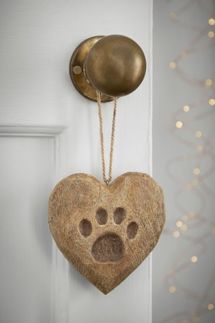 Paw Print Heart Hanging Decoration