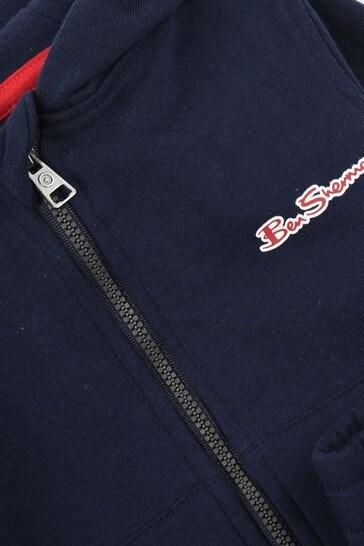 Ben Sherman® Blue The Original Zip Through Top And Jogger Set