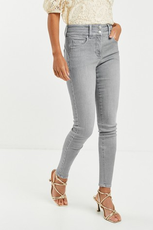 Grey Wash Lift, Slim And Shape Skinny Jeans