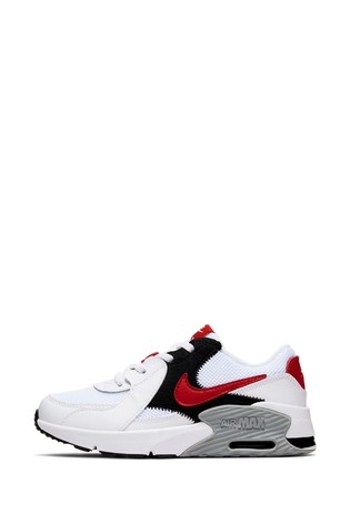 Nike White/Red Air Max Excee Junior Trainers