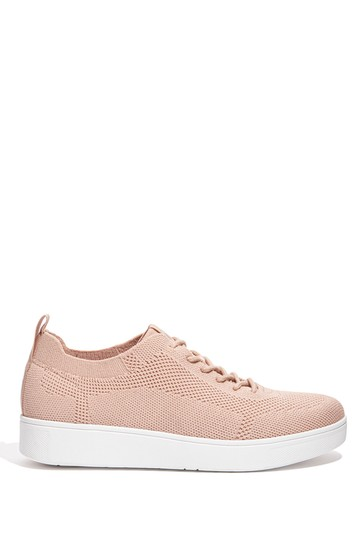 FitFlop Nude Rally Tonal Knit Trainers