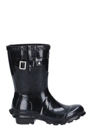 Cotswold Black Windsor Gloss Short Wellington Boots