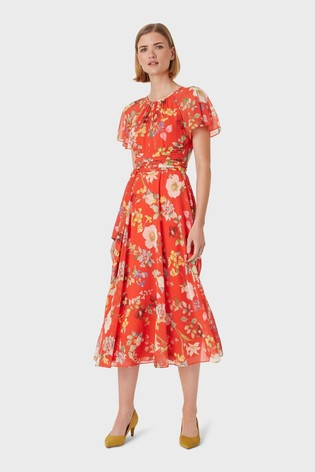 Hobbs Red Sarah Dress