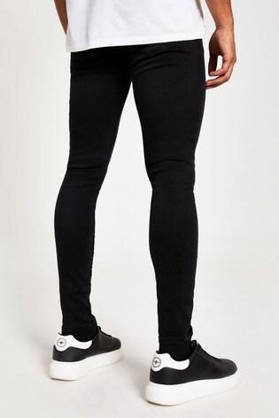 River Island Black Spray On Caine Tiffany Jeans