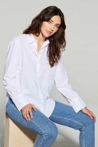 Tommy Hilfiger White Lacie Girlfriend Shirt