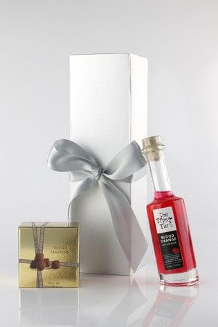 Tipsy Blood Orange Gin Liqueur And Truffles Gift Set by Le Bon Vin