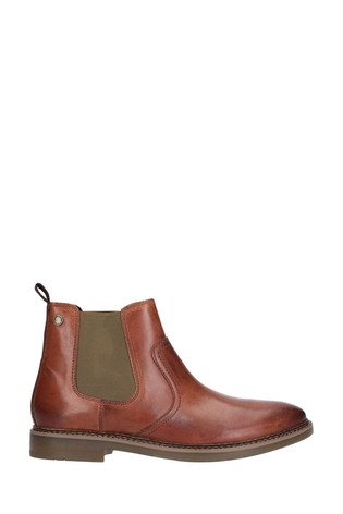 Base London® Tan Piper Waxy Chelsea Boots