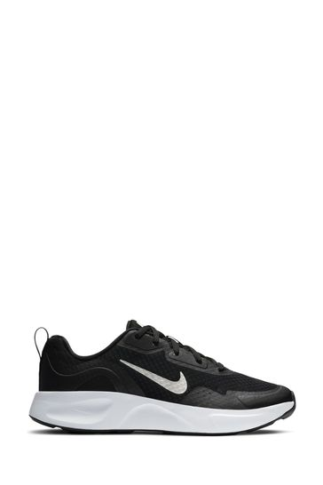 Nike Black/White Wearallday Youth Trainers
